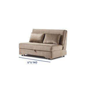 """ספה דו מושבית נפתחת למיטה זוגית אורך 190 ס""""מ דגם מוסטנג"""