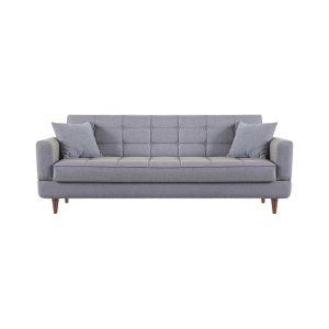 """ספה נפתחת רוחב 220 ס""""מ למיטה זוגית עם ארגז מצעים תלת מושבית דגם שייר"""