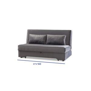 """ספה תלת מושבית רוחב 160 ס""""מ נפתחת למיטה זוגית אורך 190 ס""""מ דגם הפלינגר"""