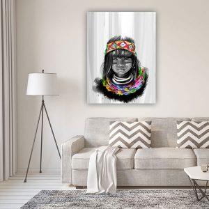 native child הדפס על קנווס במגוון גדלים של האמנית מאיה עזרן