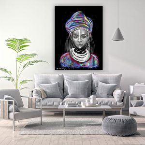 אפריקאית הדפס על קנווס במגוון גדלים של האמנית מאיה עזרן