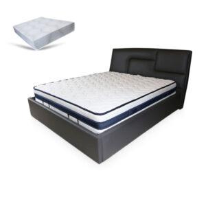 באנדל מיטה מרופדת עם ארגז מצעים דגם pablo + מזרן פרפקטו תוצרת איטליה גודל 190X160