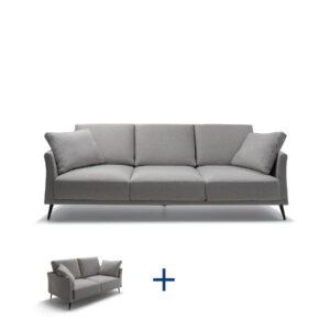 מערכת ישיבה איכותית לסלון תוצרת איטליה דגם BARTH סט תלת + דו מושבי בהנחה
