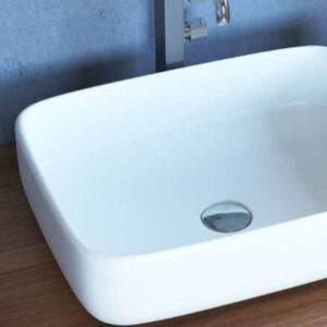 כיור מונח מבריק לארון אמבטיה דגם בזק