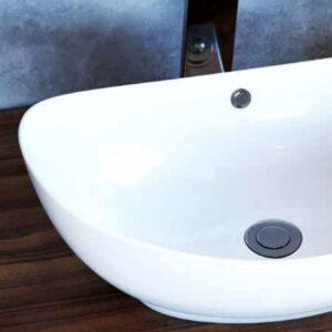 כיור מונח מבריק לארון אמבטיה דגם דולב
