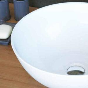 כיור מונח מבריק לארון אמבטיה דגם לימון