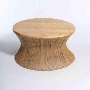 שולחן סלון מעוצב עם עץ אורן – ZANZIBAR