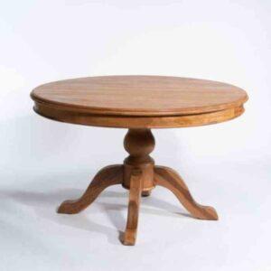 שולחן אוכל עגול מעץ מלא NEW SABRINA