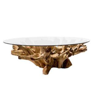 שולחן סלון שורש עץ טיק