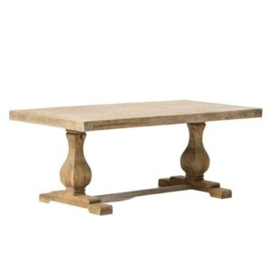 שולחן אוכל רגל אמצע נפתח עץ טבעי