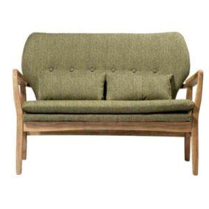 """ספה זוגית Kyla ירוק עץ מלא רוחב 117 ס""""מ"""