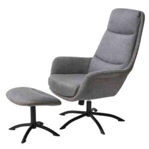כורסא + הדום דגם KELLY גוון אפור