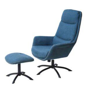 כורסא + הדום דגם KELLY גוון כחול