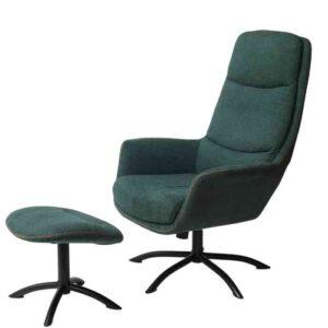 כורסא + הדום דגם KELLY גוון ירוק