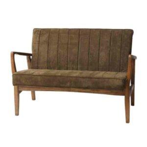 """ספה HERMAN ירוק עץ מלא ברוחב 115 ס""""מ"""