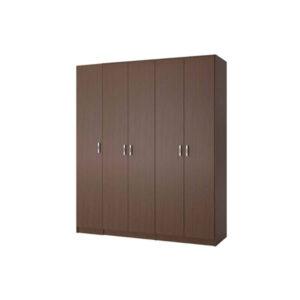 """ארון בגדים רוחב 200 ס""""מ, 5 דלתות דגם גולן"""