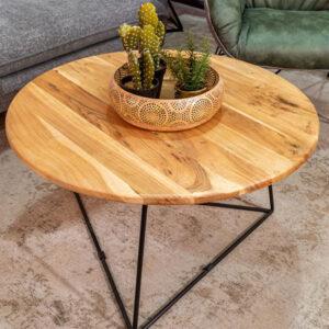 שולחן סלון דלתון עץ מלא