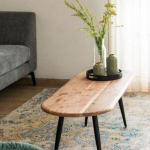 שולחן סלון אוליביה רחב, עץ מלא