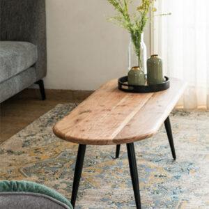 שולחן סלון אוליביה צר, עץ מלא