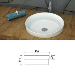 כיור מונח חצי שקוע מותאם לארונות אמבטיה דגם רות