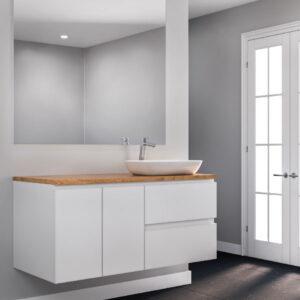 ארון אמבטיה יוקרתי תלוי 160, צבע אפוקסי דגם אביאל