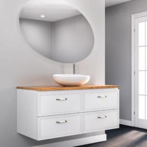 ארון אמבטיה יוקרתי תלוי 160, צבע אפוקסי דגם דניאל