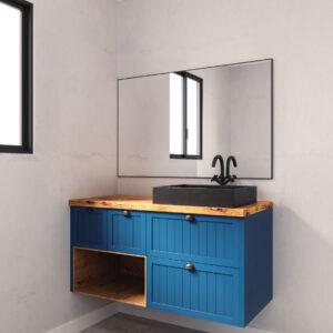 ארון אמבטיה יוקרתי 120-160 תלוי כולל בוצ'ר דגם אפרת